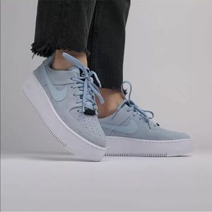 Women's Nike AF1 Sage Low Armory Blue Sneakers